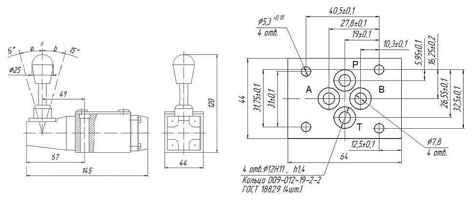 Габаритные и присоединительные размеры 1PMM6 574A (BMM6 574A)