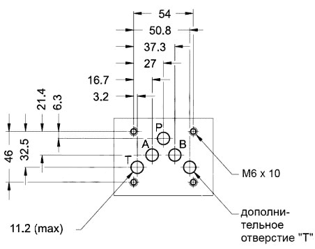 Монтажная поверхность распределителей 1РЕ10